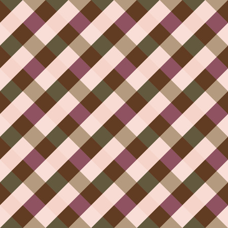 braiding: Seamless geometric checked pattern. Diagonal square, braiding, woven line background. Patchwork, rhombus, staggered texture. Pastel, brown, green, gray, rose, cold, winter colored. Vector
