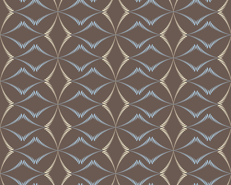 pastel colors: Seamless geometric abstract pattern. Rhombus bands, lines on light brown background. Brown, gray, beige pastel colors. Vector