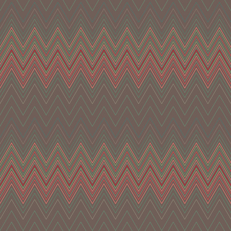 hosiery: Seamless geometric striped pattern. Stripy background. Zig-zag line lace texture. Brown, red colored. Womens stockings, hosiery, garter, undies, sale theme. Vector Illustration