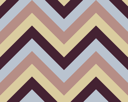 brindled: Striped, zigzagging seamless pattern. Zig-zag line texture. Stripy geometric background. Blue, brown,beige contrast colored. Winter theme. Vector Illustration