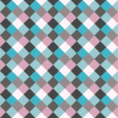 homosexual: Seamless geometric checked pattern. Diagonal square, woven line background. Rhombus, patchwork texture. Blue, gray, rose, sea, soft colored. Winter, homosexual theme. Vector