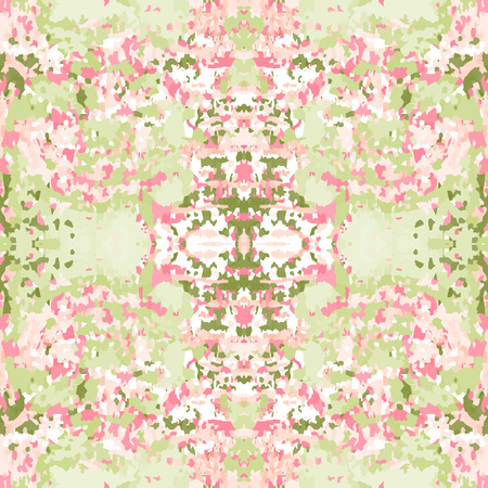 a snake in a bag: Seamless nature pattern. Stone, snake skin, band view mosaic motley texture. Ornamental collage. Green, rose soft colored background. Vector