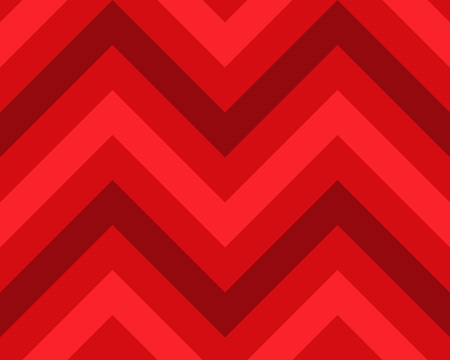 striated: Striped, zigzagging seamless pattern. Zig-zag line texture. Stripy geometric background. Red colored. Winter theme. Vector