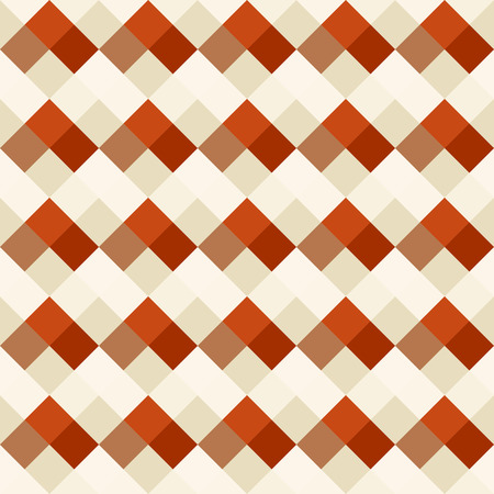 braiding: Seamless geometric pattern. Diagonal square, braiding, woven line background. Strapwork texture in warm,  soft and bright contrast brown colors. Rhomb, staggered figure texture. Vector Illustration