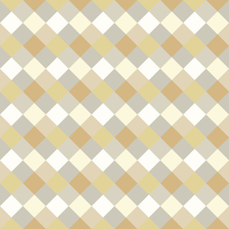 spliced: Seamless geometric checked pattern. Diagonal square, braiding, woven line background. Strapwork texture in warm, soft, light, gray, beige, olive colors. Rhomb, vertical figure texture. Vector
