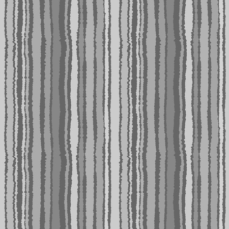 torn edge: Seamless strip pattern. Vertical lines with torn paper effect. Shred edge background. Gray colors. Vector illustration Illustration