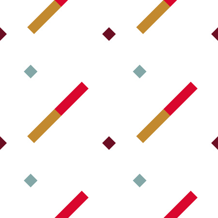 striated: Seamless geometric stripy pattern. Texture of diagonal strips. Bright red, orange rectangles on white background. Baby, children colored. Vector