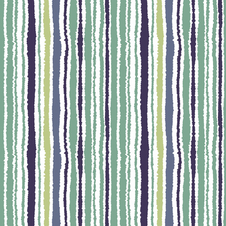 torn edge: Seamless striped pattern. Vertical narrow lines. Torn paper, shred edge texture. Gray, green, white colored background. Cold sea theme. Vector Illustration