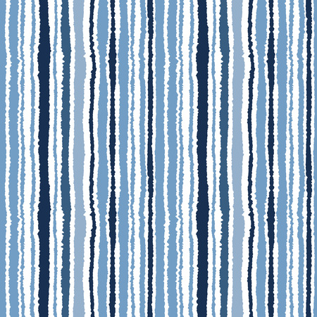 narrow: Seamless striped pattern. Vertical narrow lines. Torn paper, shred edge texture. Gray, blue, white colored background. Cold sea theme. Vector