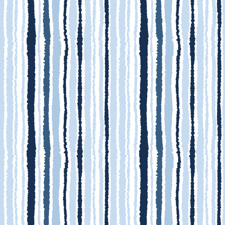 torn edge: Seamless striped pattern. Vertical narrow lines. Torn paper, shred edge texture. Gray, blue, white colored background. Cold sea theme. Vector