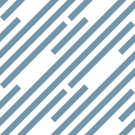 streaky: Seamless geometric pattern. Stripy texture. Diagonal gray-blue strips on white background. Labyrinth theme. Vector