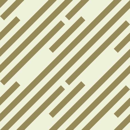 striated: Seamless geometric pattern. Stripy texture. Diagonal khaki, dark yellow strips. Labyrinth theme background. Vector