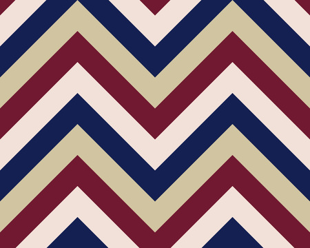brindled: Striped, zigzagging seamless pattern. Zig-zag line texture. Stripy geometric background. Maroon, white, purple contrast colored. Winter theme. Vector