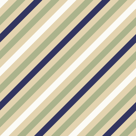 striated: Seamless geometric pattern. Stripy texture for neck tie. Diagonal soft, contrast strips on background. Olive, cream, white and dark blue colors. Vector