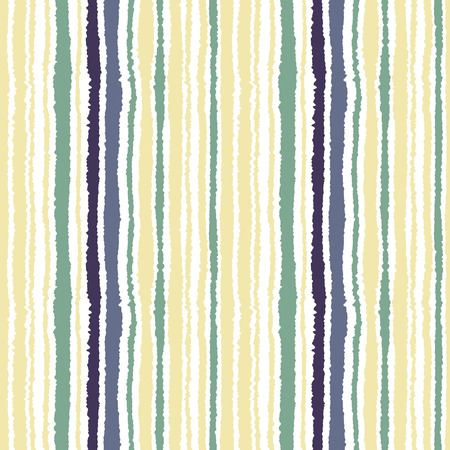 torn edge: Seamless strip pattern. Vertical lines with torn paper effect. Shred edge texture. Green, gray, olive colors on white background. Vector