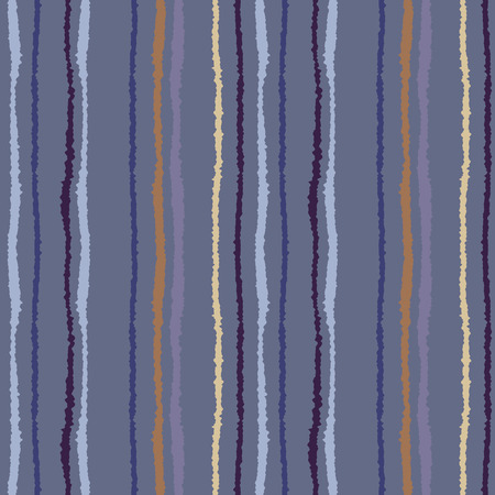 torn edge: Seamless strip pattern. Vertical lines with torn paper effect. Shred edge texture. Lilac, blue, gray colored background. Vector Stock Photo