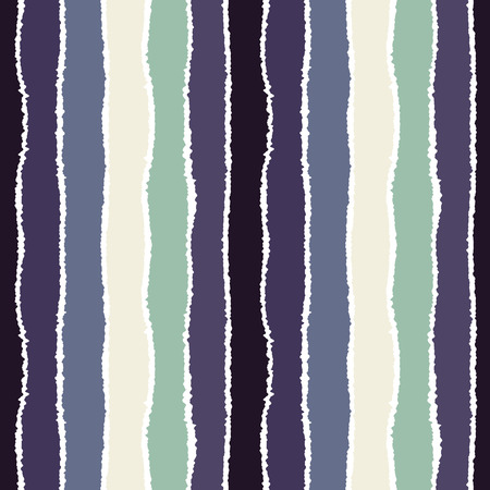 torn edge: Striped seamless pattern. Vertical wide lines with torn paper effect. Shred edge band background. Gray, blue, white contrast colors. Vector
