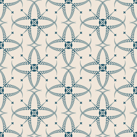honouring: Religion seamless pattern. Laurel wreath, lace view texture with cross. Ceremonial, funeral background. Swirl stylized ornament. Turquoise, light gray colored. Vector