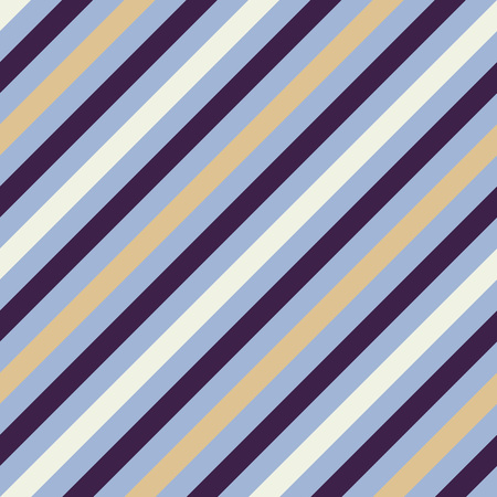 striated: Seamless geometric pattern. Stripy texture for neck tie. Diagonal contrast strips on background. Gray, purple, cream colors. Vector Illustration