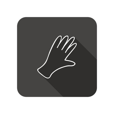 rubber gloves: Rubber gloves icon. Protection mitten symbol. Illustration