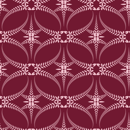 honouring: Religion seamless pattern. Laurel wreath, lace view texture with cross. Ceremonial, funeral background. Swirl stylized ornament. Brown, beige colored. Vector