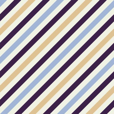 dark purple: Seamless geometric pattern. Stripy texture for neck tie. Diagonal contrast strip background. Blue, beige, dark purple cream colors. Vector