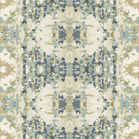 motley: Seamless nature pattern. Stone, snake skin, band view mosaic motley texture. Ornamental collage. Green, gray soft colored background. Vector