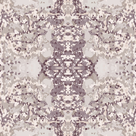 motley: Seamless nature pattern. Stone, snake skin, band view mosaic motley texture. Ornamental collage. Gray, brown, beige colored background. Vector Illustration