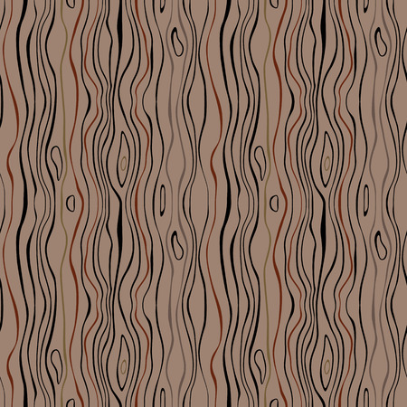 versatile: Seamless striped nature pattern. Vertical narrow wavy lines. Bark, branches of trees, tropical forest theme texture. Brown, gray colored background. Vector