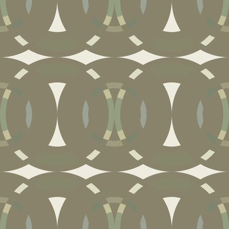 braiding: Seamless geometric abstract pattern. Rhombus, circle view braiding figure texture. Green, gray winter soft colored background. Vector