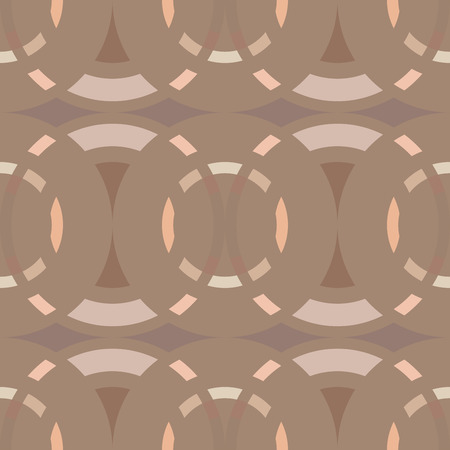 braiding: Seamless geometric abstract pattern. Rhombus, circle view braiding figure texture. Orange, brown, gray winter soft colored background. Vector