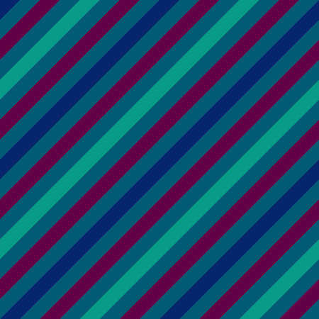 striated: Seamless geometric pattern. Stripy texture for neck tie. Diagonal contrast strips on background. Blue, turquoise, purple colors. Vector
