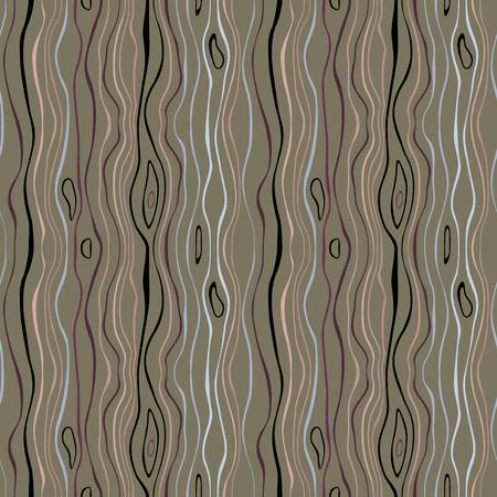 Motif rayé sans soudure. Lignes fines ondulées verticales. Neige neigeuse, nuit, texture thème hiver. Fond gris, vert, beige. Vecteur