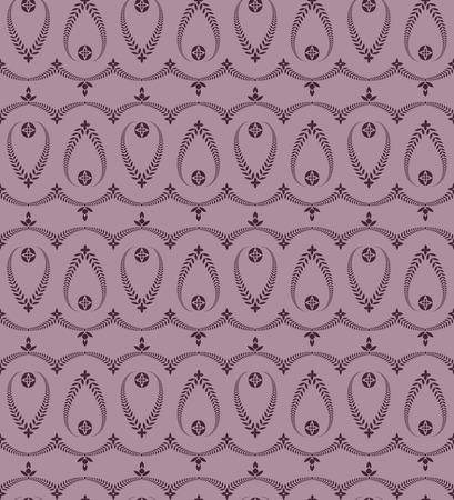 honouring: Seamless laurel wreath pattern. Stylized ornament with cross. Lace view texture. Ceremonial, religious background. Purple colored. Vector