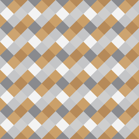 braiding: Seamless geometric pattern. Diagonal square, braiding, woven line background. Strapwork texture in warm, soft, light, gray, beige, olive colors. Rhomb, vertical figure. Vector