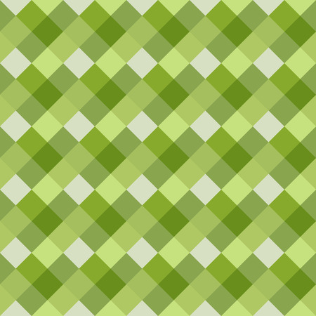 braiding: Seamless geometric pattern. Diagonal square, braiding, woven line background. Strapwork texture in warm, bright, light, green, olive colors. Rhomb, staggered figure. Vector Illustration
