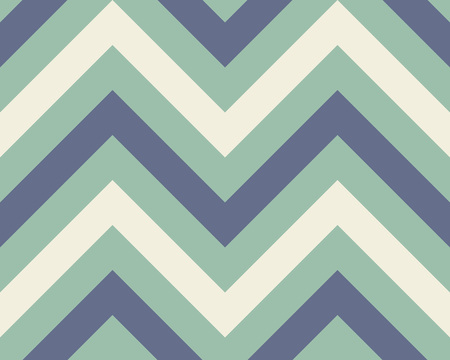 Striped, zigzagging seamless pattern. Zigzag line texture. Stripy geometric background. Blue, aqua, green, white colored. Vector Ilustração