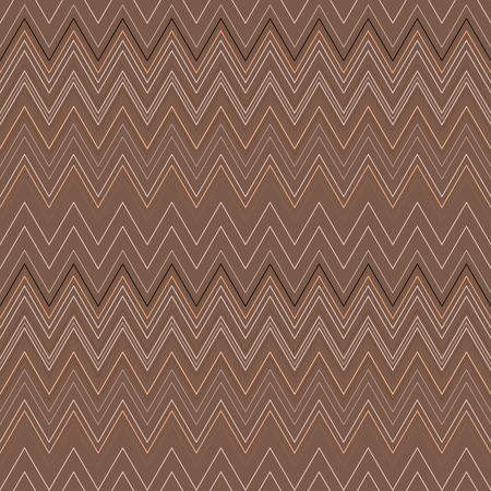 Seamless zigzag hatch pattern. Geometric stripy background. Wedged, striped, line lace texture. Stockings, lingerie, hosiery, garter, undies material theme. Brown, beige soft colored. Vector Illustration
