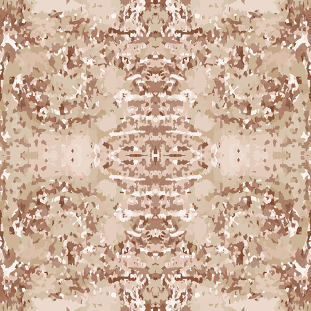 motley: Seamless nature pattern. Stone, snake skin, band view mosaic motley texture. Ornamental collage. Brown, beige soft colored background. Vector Illustration