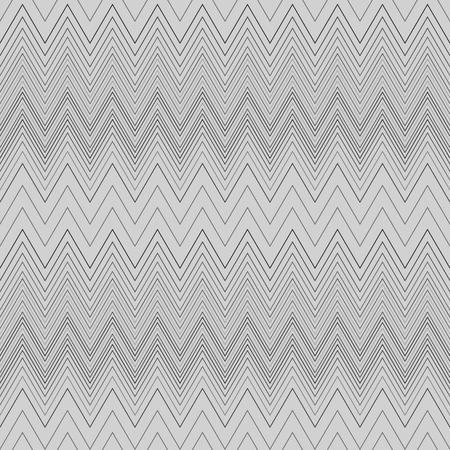 Seamless zigzag hatch pattern. Geometric stripy background. Wedged, striped, line lace texture. Stockings, lingerie, hosiery, garter, undies material theme. Gray soft colored. Vector Illustration