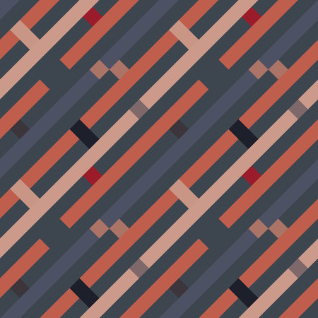 dark gray line: Seamless geometric stripy pattern. Texture of diagonal strips, lines. Rectangles on dark gray, orange striped background. Vector