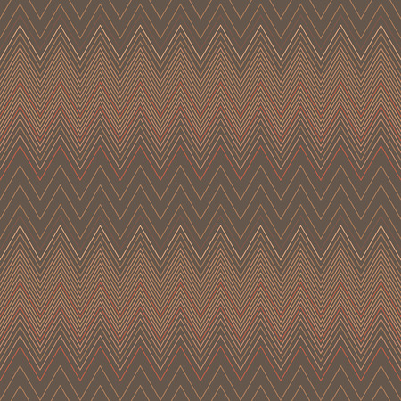 hosiery: Seamless zigzag hatch pattern. Geometric stripy background. Wedged, striped, line lace texture. Stockings, lingerie, hosiery, garter, undies material theme. Brown, beige soft colored. Vector Illustration
