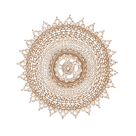 Decorative brown line mandala
