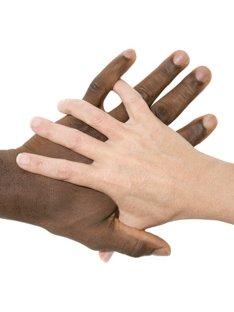 Mixity - Two joint hands symbolizing diversity photo