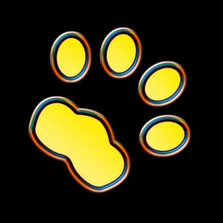 fluorescent: Cat print in the night - Neon effect