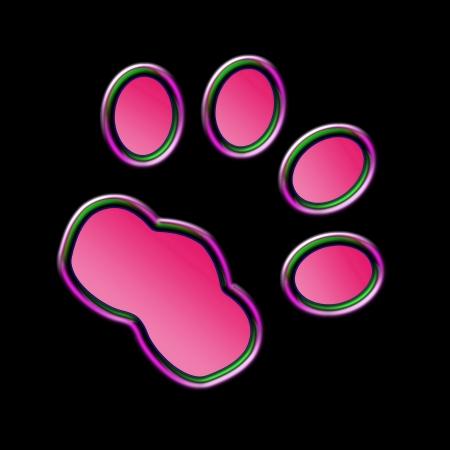 scamper: Cat print  in the night - Neon effect