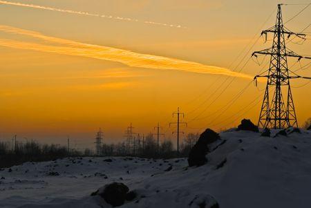 high flown: Winter sunset
