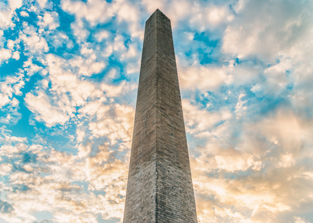 WASHINGTON DC, USA The Washington Monument is an obelisk, built to commemorate George Washington, once commander-in-chief of the Continental Army and the first American president.