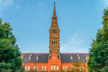 WASHINGTON DC, USA: Territory of Georgetown University, private research university - the oldest Catholic and Jesuit-affiliated institution of higher education in the USA.