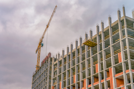 Building area with cranes
